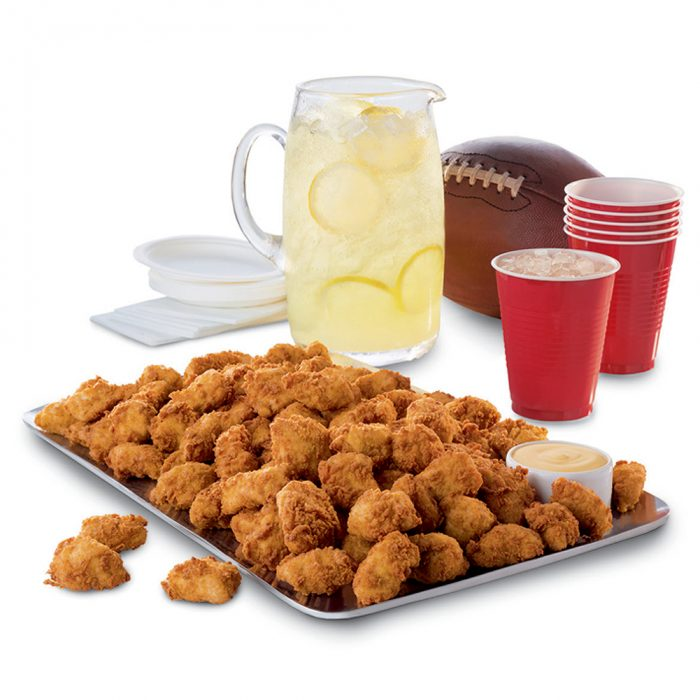 Chick-fil-A Nugget Tray and Lemonade for tailgating, graduation, and birthday parties